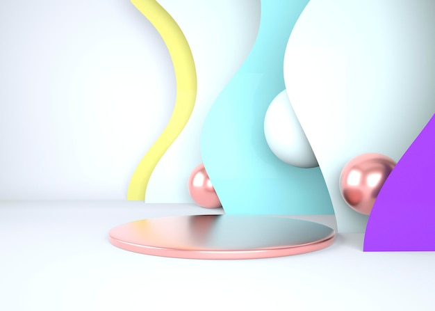 3d abstracte achtergrond, mock up scène geometrie vorm podium voor productweergave, 3d illustratie.