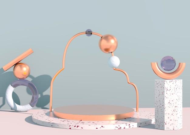 3d-abstracte achtergrond mock-up scène geometrie vorm podium voor productweergave. 3d-rendering.