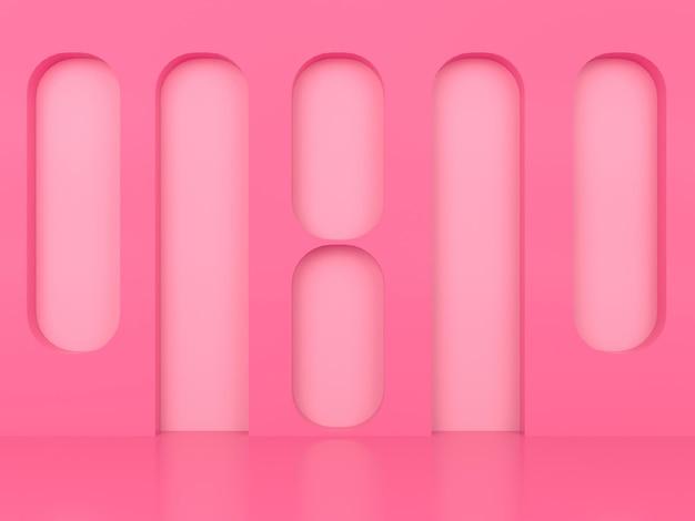 3d-abstracte geometrische vorm pastel concept