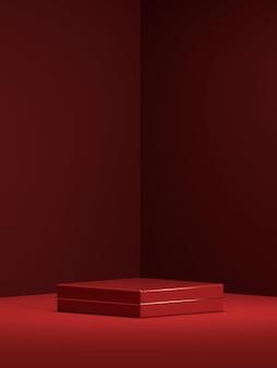 3d abstracte scène geometrie vorm podium