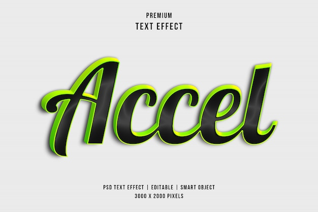 3d accel text style-effect