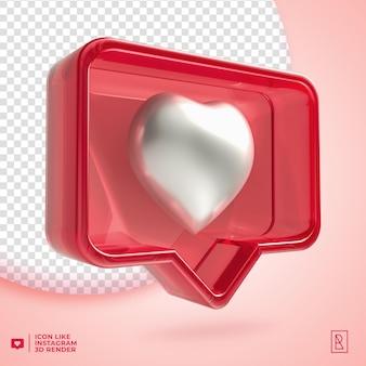 3d-acryl zoals instagram-pictogram geïsoleerd