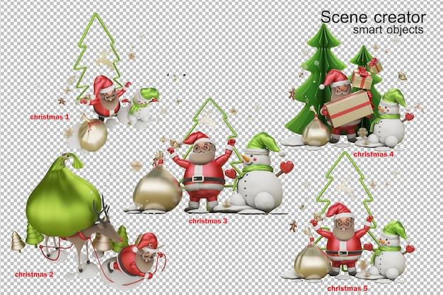 3d-afbeelding een geschenk van de kerstman op eerste kerstdag