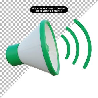 3d-afbeelding geluid aan