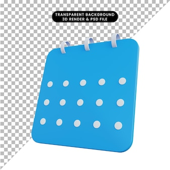 3d-afbeelding kalender