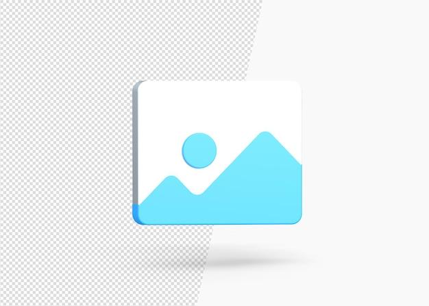 3d-afbeelding pictogram ontwerp rendering