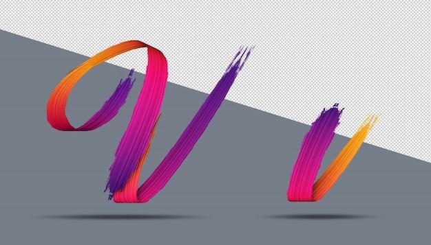 3d-alfabet kalligrafie olieverf stijl