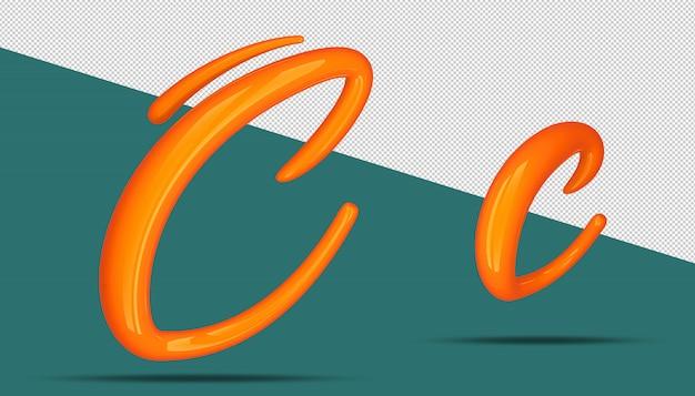3d-alfabet kalligrafie stijl c.
