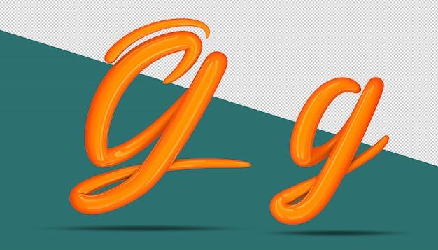 3d-alfabet kalligrafie stijl g.