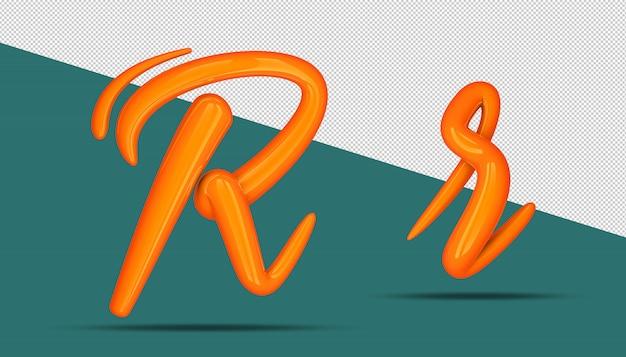 3d-alfabet kalligrafie stijl r.