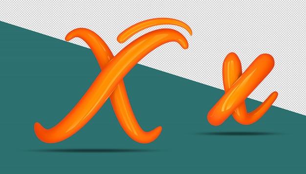 3d-alfabet kalligrafie stijl x