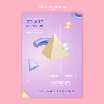 3d-art poster sjabloon