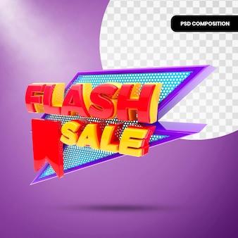 3d badge flash-verkoop geïsoleerd