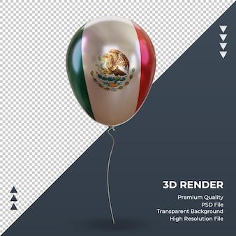 3d-ballon mexico vlag realistische folie rendering vooraanzicht