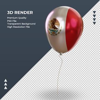 3d-ballon mexico vlag realistische folie weergave juiste weergave