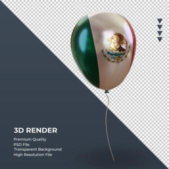 3d-ballon mexico vlag realistische folie weergave linker weergave