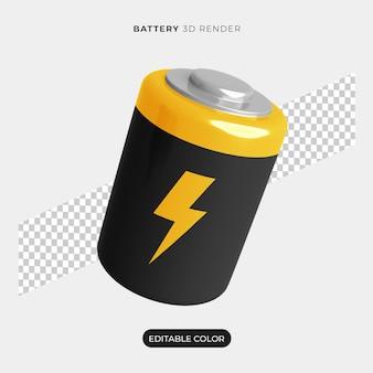 3d-batterijpictogram mockup geïsoleerd