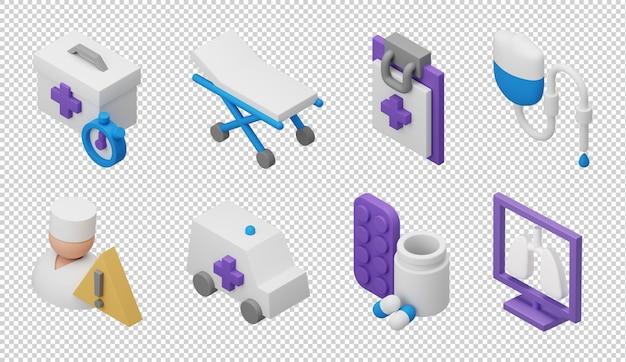 3d-behandeling pictogrammen