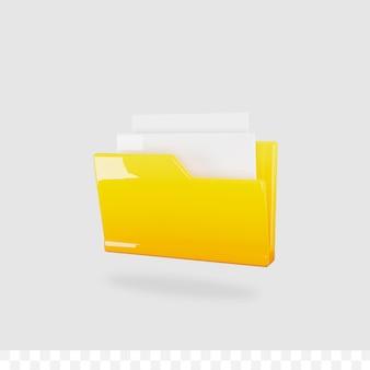 3d-bestand document glanzende metalen gradiënt geïsoleerd