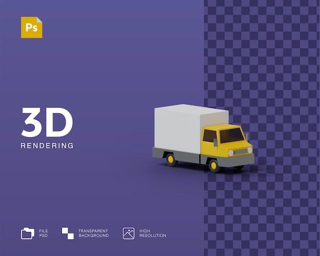 3d bestelwagen illustratie