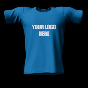 3d-bewerkbare mock up van de voorkant van het t-shirt
