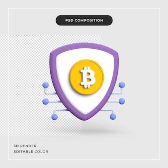 3d bitcoin cryptovaluta Premium Psd