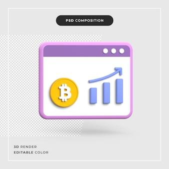 3d bitcoin-groeiconcept