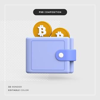 3d bitcoin met rekenmachine crypto valuta concept crypto