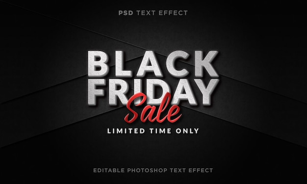 3d black friday-teksteffectsjabloon