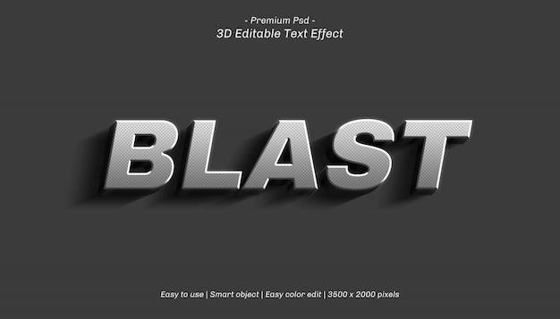 3d blast bewerkbaar teksteffect