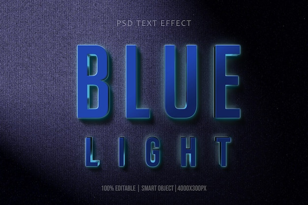 3d blauw colorl-teksteffect