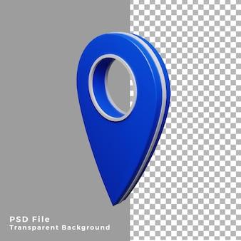 3d-blauw locatiepictogram