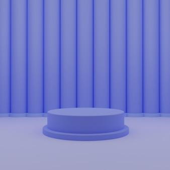 3d blauw minimalis podium staan sokkel producten psd-bestanden