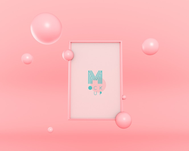 3d bubbels zwevend frame
