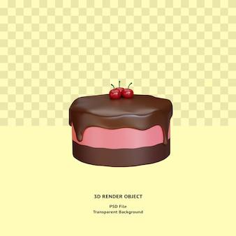 3d cake illustratin object gerenderd premium psd