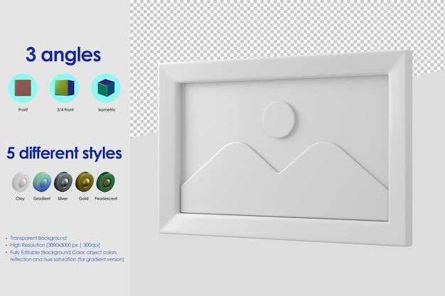 3d canvas pictogram