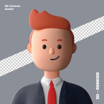 3d cartoon avatar geïsoleerd in 3d-rendering