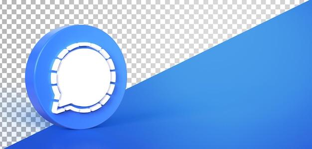 3d-chat cirkel pictogram knop pictogram geïsoleerd Premium Psd