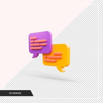 3d-chatpictogram geïsoleerd