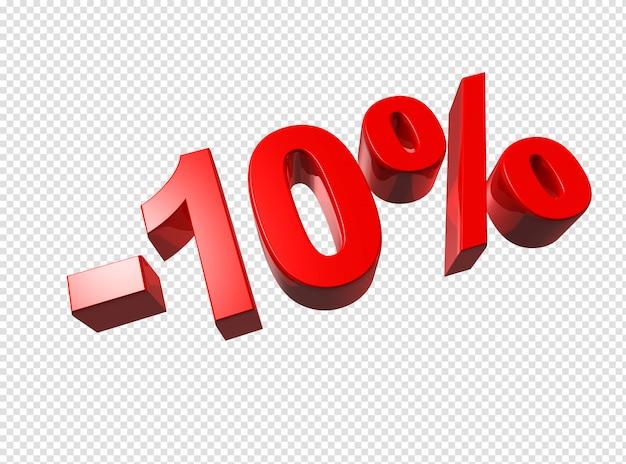 3d-cijfers van 10 procent