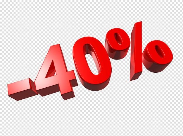 3d-cijfers van 40 procent