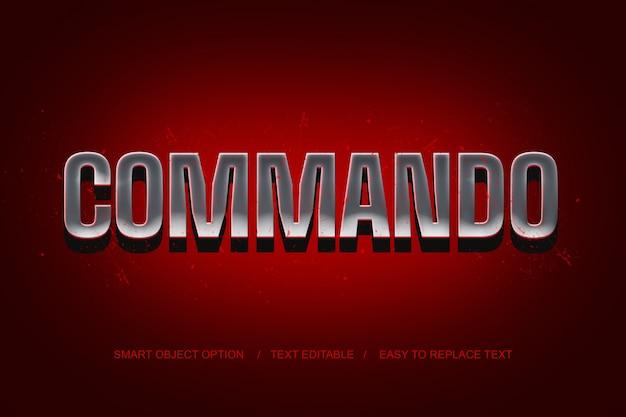 3d commando teksteffect