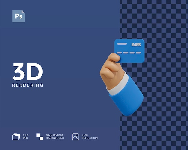 3d creditcard illustratie