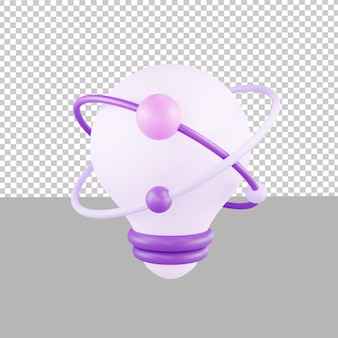 3d design icoon lamp creatief idee illustratie zakelijk