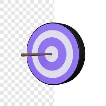3d-doel illustratie concept