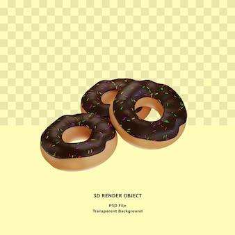 3d donuts illustratin object gerenderd premium psd