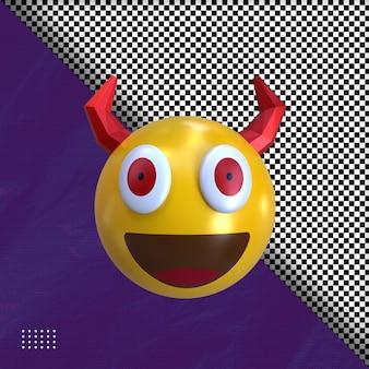 3d duivel emoticon illustratie