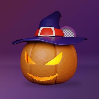 3d enge pompoen halloween illustratie