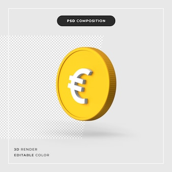 3d-euro realistisch concept