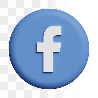 3d facebook icoon